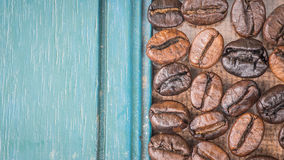 Fresh coffee beans, selective focus Royalty Free Stock Image