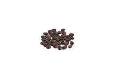Fresh coffee beans. On a white background Stock Image