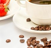 Fresh Coffee Beverage Means Hot Drink And Coffees. Coffee And Beans Representing Fresh Decaf And Java stock photos