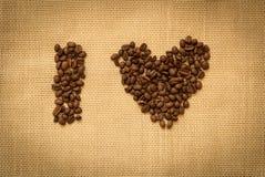 Fresh coffee brown beans Stock Photos