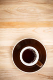 Fresh Coffee on Burlap Stock Photography