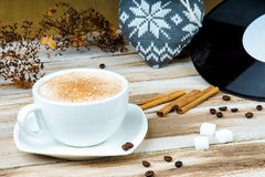 Fresh coffee in a cup Stock Image