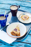 Fresh coffee and desserts Stock Photo