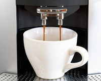 Fresh coffee from espresso Stock Photography
