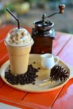 Fresh coffee frappe royalty free stock images