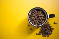 Fresh coffee grains. Fresh Brazilian coffee roasted grains Royalty Free Stock Photos
