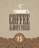 Always fresh coffee Royalty Free Stock Photos