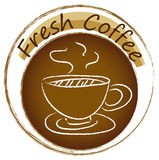 A fresh coffee label Stock Photography