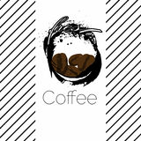 Fresh coffee label Royalty Free Stock Photo