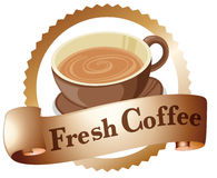A fresh coffee label Stock Image