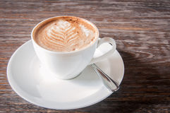 Fresh coffee with milk froth Royalty Free Stock Photography