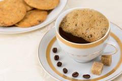 Fresh coffee with more cream Stock Photo