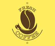 Fresh coffee poster or banner Stock Image