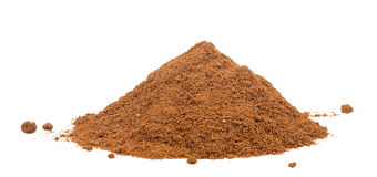 Fresh coffee powder Royalty Free Stock Image