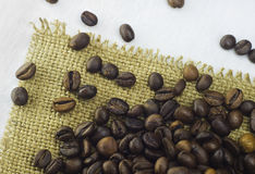 The fresh coffee on table Stock Image