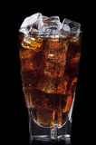 Fresh cola drink background with ice Royalty Free Stock Photo