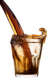 Fresh cola drink background with splash Royalty Free Stock Photography