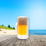 Fresh cold beer Royalty Free Stock Photo