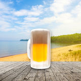 Fresh cold beer Stock Image