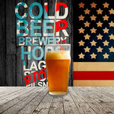 Fresh cold beer Stock Images