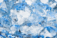 Fresh cold blue ice background Royalty Free Stock Photo