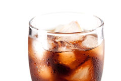 Fresh Cold Cola with ice Stock Photos