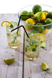Fresh cold drink lemon with mint Royalty Free Stock Photography