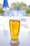 Fresh and cold foamy beer Royalty Free Stock Photo