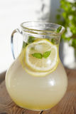 Fresh cold ginger lemonade with ice Royalty Free Stock Photography