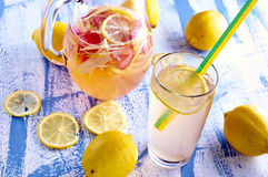 Fresh and cold ginger lemonade with strawberry Stock Photography