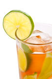 Fresh cold ice tea with lime Stock Images