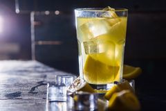 Cold lemon drink Royalty Free Stock Photography
