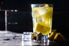 Cold lemon drink Royalty Free Stock Image