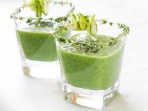 Fresh cold soup (gazpacho) Royalty Free Stock Photo