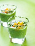 Fresh cold soup (gazpacho) Royalty Free Stock Photos