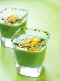Fresh cold soup (gazpacho) Royalty Free Stock Photos
