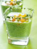 Fresh cold soup (gazpacho) Royalty Free Stock Photography
