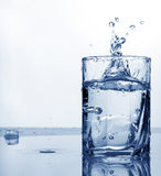 Fresh cold water in a high glass Royalty Free Stock Images