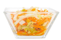 Fresh coleslaw salad with corn. Stock Photos