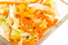 Fresh coleslaw salad with corn. Royalty Free Stock Photo