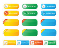 Fresh color buy now web buttons Stock Photo