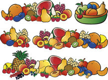 Fresh color fruit collections Stock Image