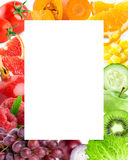Fresh color fruits and vegetables Royalty Free Stock Image