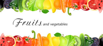 Fresh color fruits and vegetables Royalty Free Stock Photography