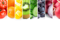 Fresh color fruits and vegetables Stock Photos