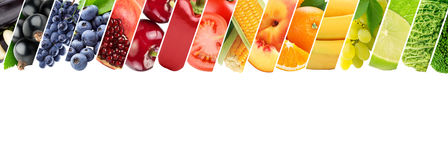 Fresh color fruits and vegetables. Healthy food concept royalty free stock photos