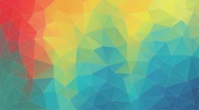 Fresh color geometric triangle wallpaper stock illustration