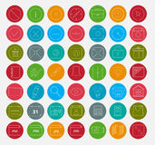 49 Fresh color Icon Sets for Developers and Designers.  Royalty Free Stock Photos