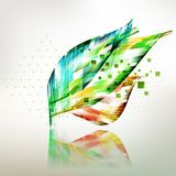 Fresh colored geometric leaves background Royalty Free Stock Photo