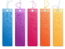 Fresh colored ornamental tags Stock Image